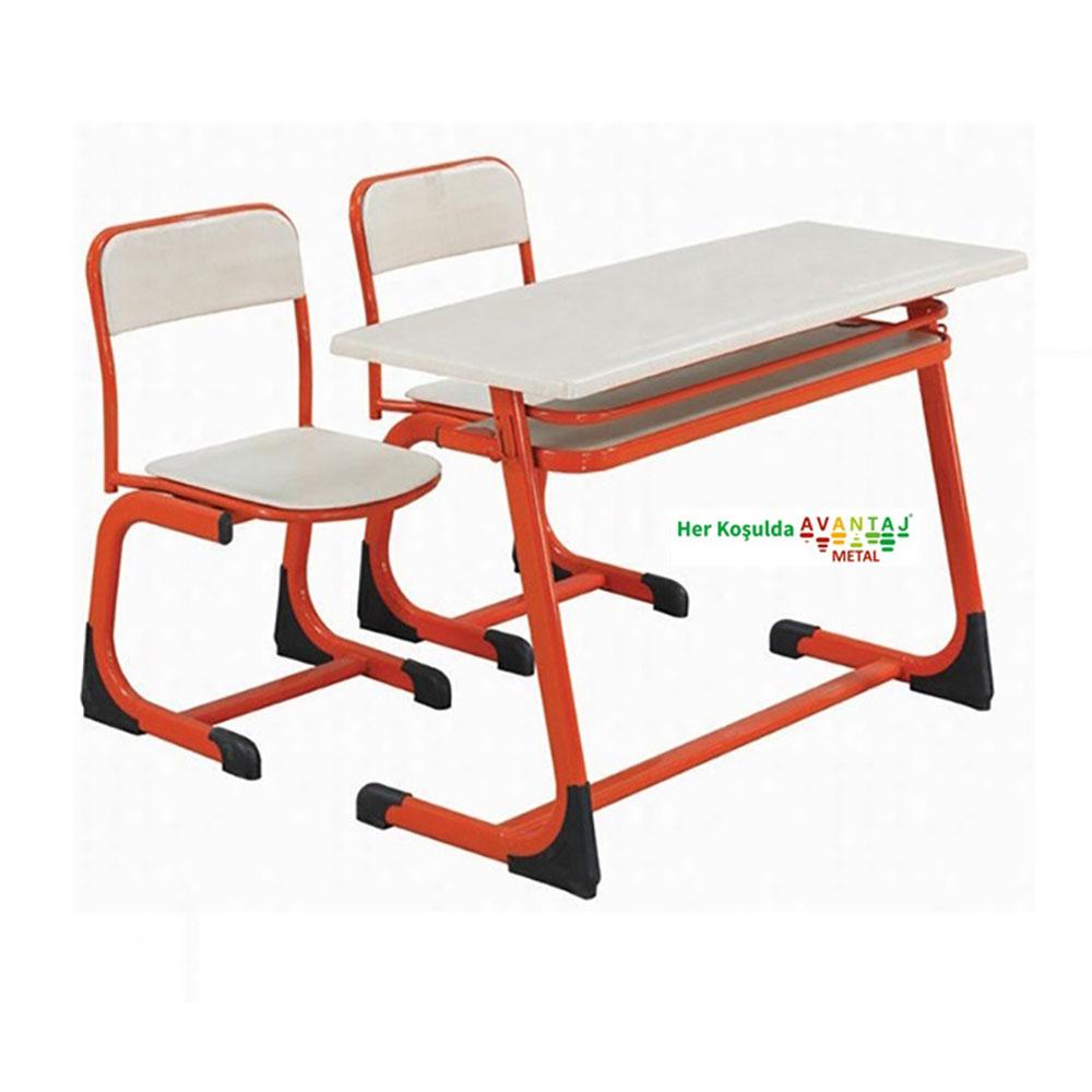 Double Middle School Type School Desk