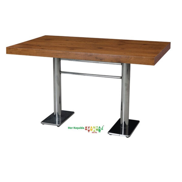 Chromed Appearance Painted Leg Laminate Dining Table 80 x 140 cm Its classic and modern designs suit every decoration style! Dining and kitchen tables, with different color options, are in Avantaj Metal