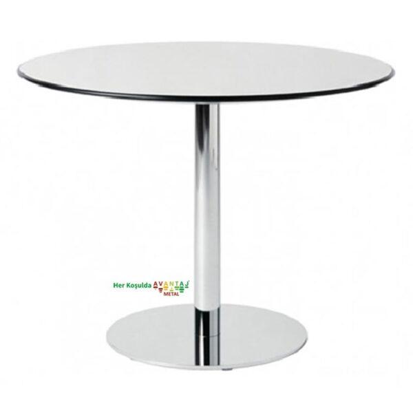Compact Tablalı Yemek Masası Q-90 90cm Yuvarlak klasik ve modern tasarımları ile her dekorasyon tarzına uygun! Yemek ve mutfak masası farklı renk seçenekleri ile Avantaj Metal'de.