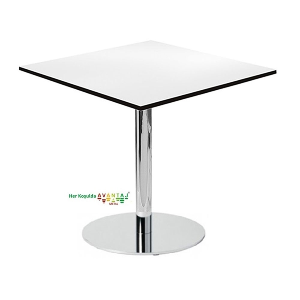 Compact Top Dining Table 76 cm Square Its classic and modern designs suit every decoration style! Dining and kitchen tables, with different color options, are in Avantaj Metal