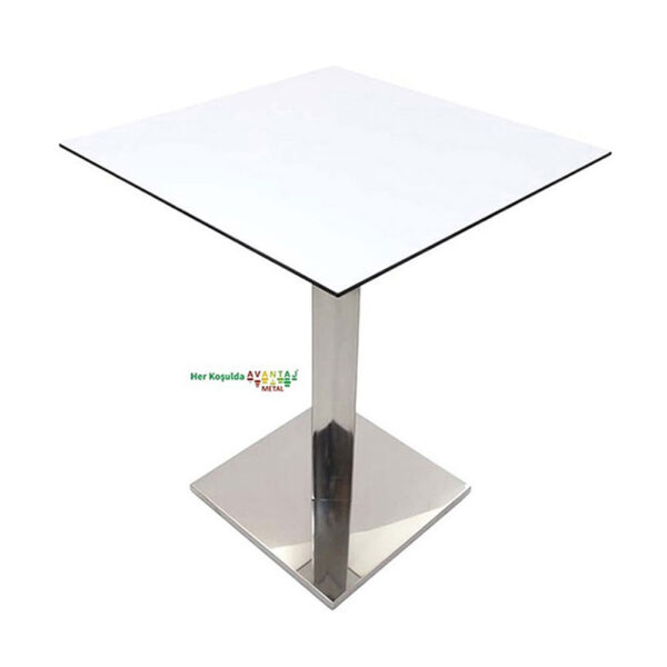Compact Table Dining Table 76 cm Square Model: 2 Its classic and modern designs suit every decoration style! Dining and kitchen tables, with different color options, are in Avantaj Metal