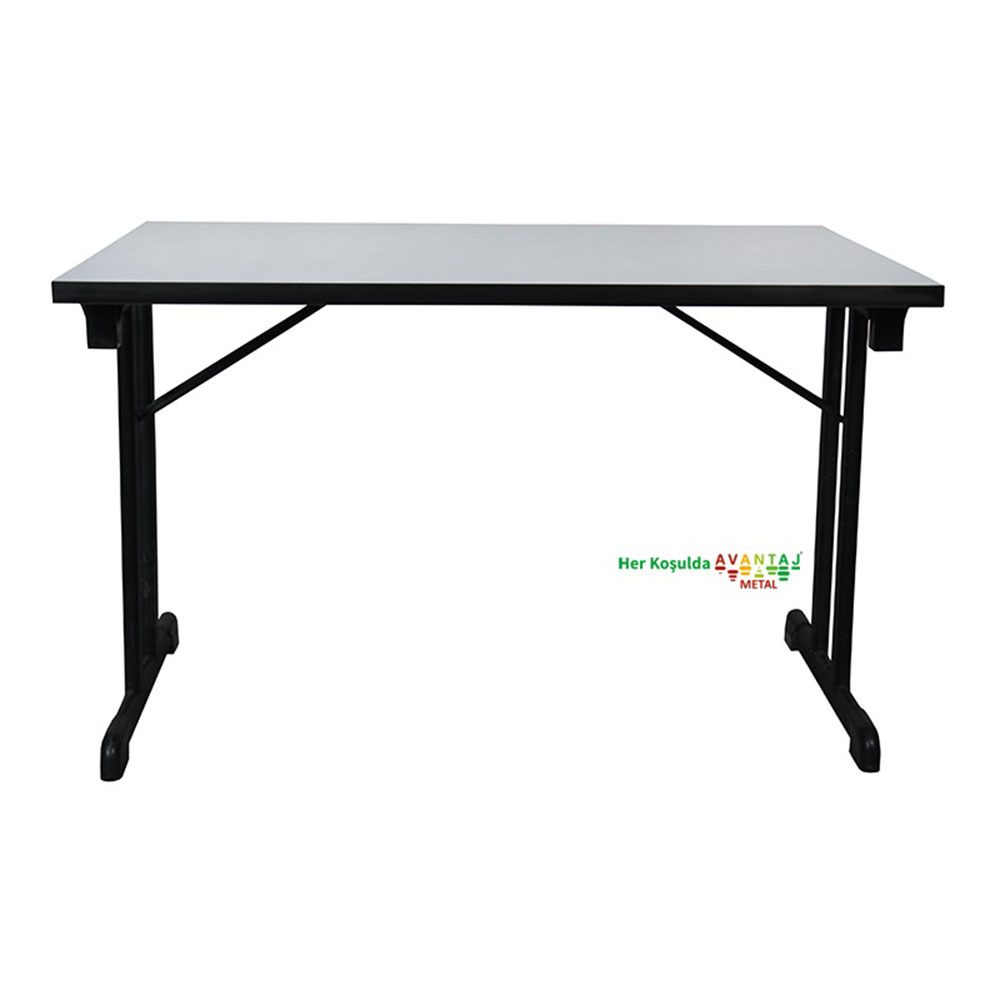 Compact Edge Band Foldable Dining Table 80 x 120 cm Its classic and modern designs suit every decoration style! Dining and kitchen tables, with different color options, are in Avantaj Metal