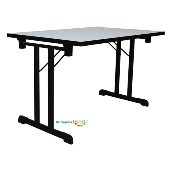 Compact Edge Band Foldable Dining Table 80 x 140 cm Its classic and modern designs suit every decoration style! Dining and kitchen tables, with different color options, are in Avantaj Metal