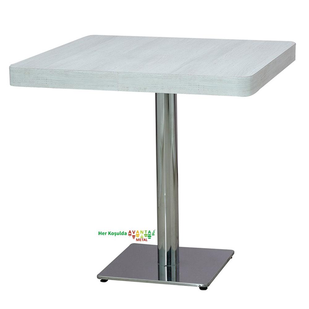 Metal Ayaklı Laminant Tablalı Yemek Masası 80 cm Kare klasik ve modern tasarımları ile her dekorasyon tarzına uygun! Yemek ve mutfak masası farklı renk seçenekleri ile Avantaj Metal'de.