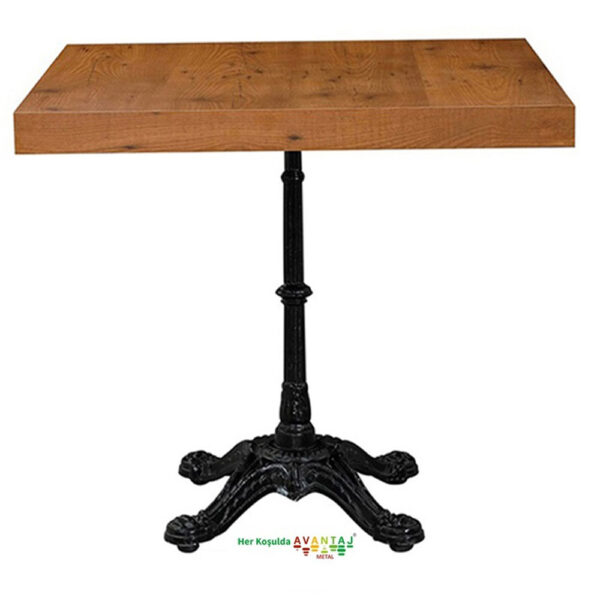 Pik Döküm Ayaklı Yemek Masası 80 Cm Kare klasik ve modern tasarımları ile her dekorasyon tarzına uygun! Yemek ve mutfak masası farklı renk seçenekleri ile Avantaj Metal'de.