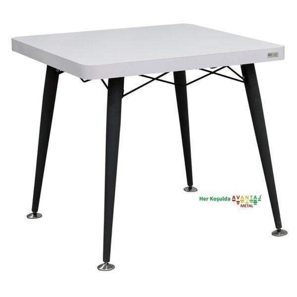 Metal Ayaklı Yemek Masası 80 cm Kare klasik ve modern tasarımları ile her dekorasyon tarzına uygun! Yemek ve mutfak masası farklı renk seçenekleri ile Avantaj Metal'de.