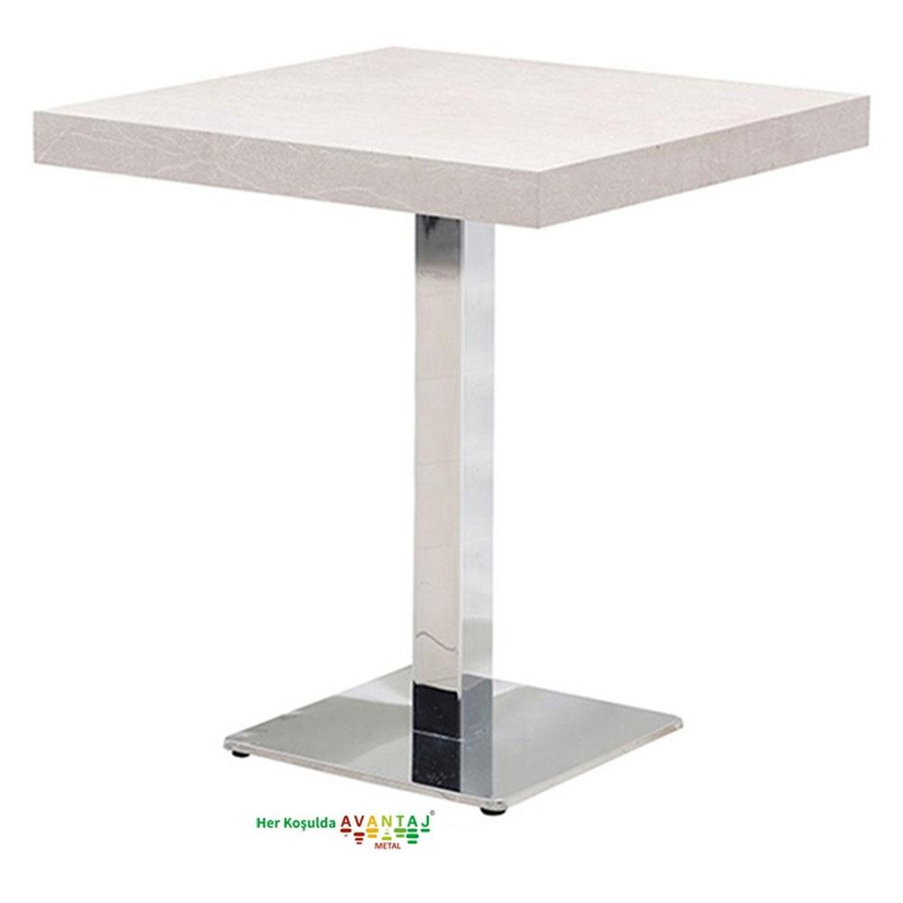 Boyalı Sütun Ayaklı Yemek Masası 80 cm Kare Model : 3 klasik ve modern tasarımları ile her dekorasyon tarzına uygun! Yemek ve mutfak masası farklı renk seçenekleri ile Avantaj Metal'de.