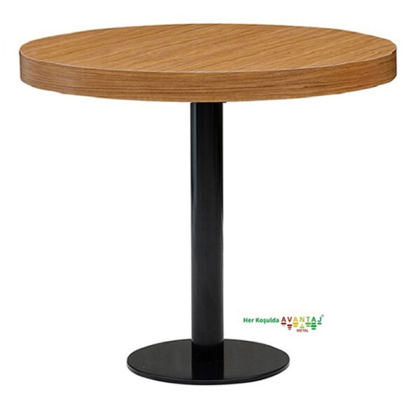 Painted Column Leg Dining Table Q 90 Round Its classic and modern designs suit every decoration style! Dining and kitchen tables, with different color options, are in Avantaj Metal