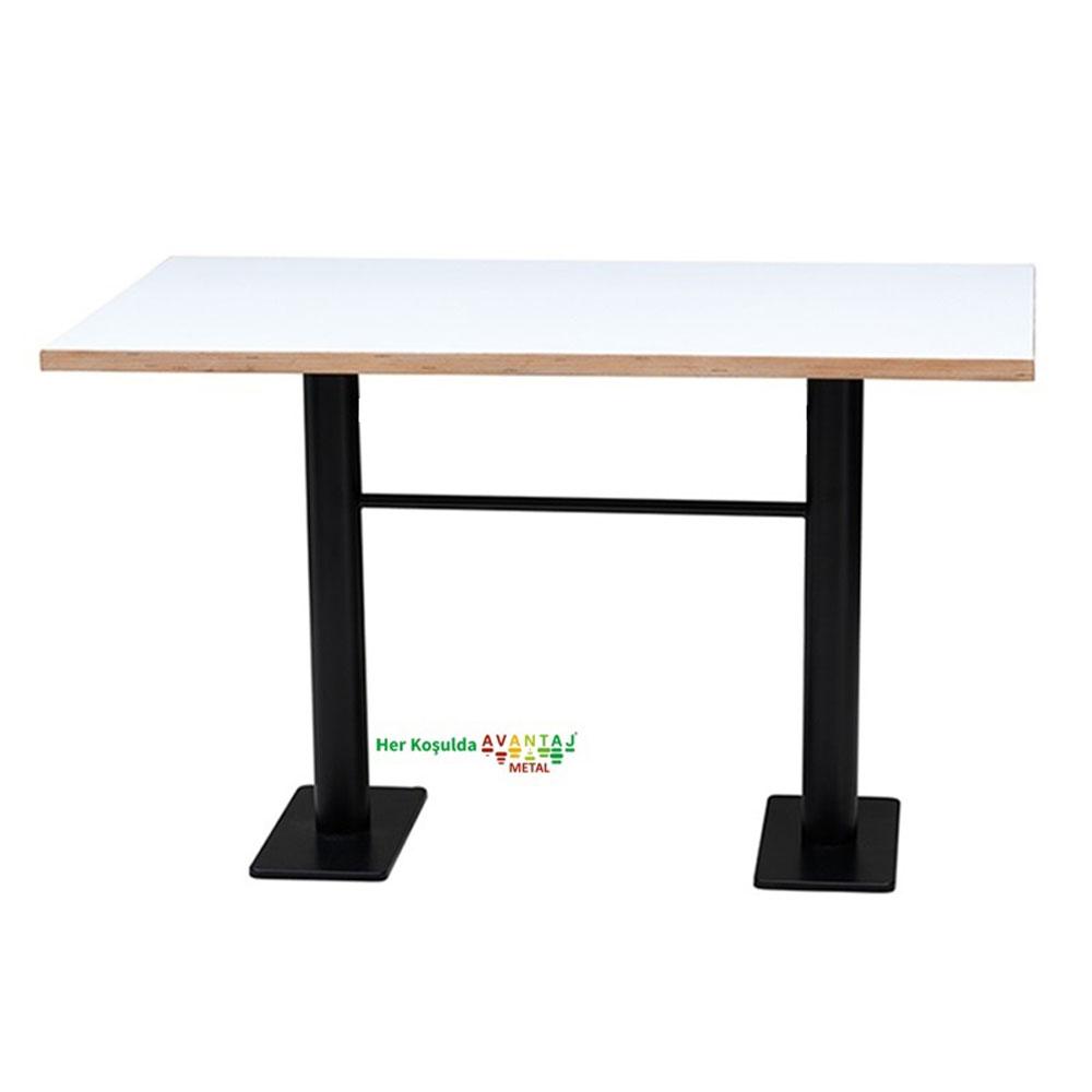 Boyalı Sütun Ayaklı Yemek Masası 80 x 138 Cm Model : 2 klasik ve modern tasarımları ile her dekorasyon tarzına uygun! Yemek ve mutfak masası farklı renk seçenekleri ile Avantaj Metal'de.