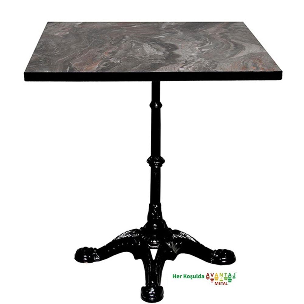 Boyalı Pik Döküm Ayaklı Compact Tablalı Yemek Masası 75 cm Kare klasik ve modern tasarımları ile her dekorasyon tarzına uygun! Yemek ve mutfak masası farklı renk seçenekleri ile Avantaj Metal'de.