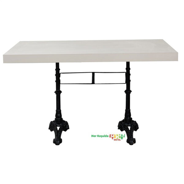 Cast Iron Leg Dining Table 80 x 138 cm Its classic and modern designs suit every decoration style! Dining and kitchen tables, with different color options, are in Avantaj Metal