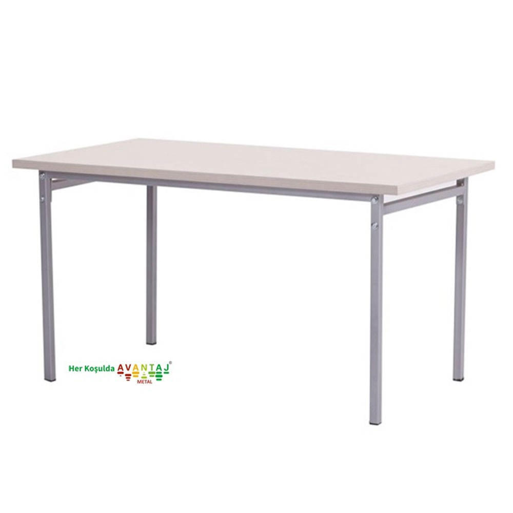 Dining Table 80 x 138 cm Its classic and modern designs suit every decoration style! Dining and kitchen tables, with different color options, are in Avantaj Metal