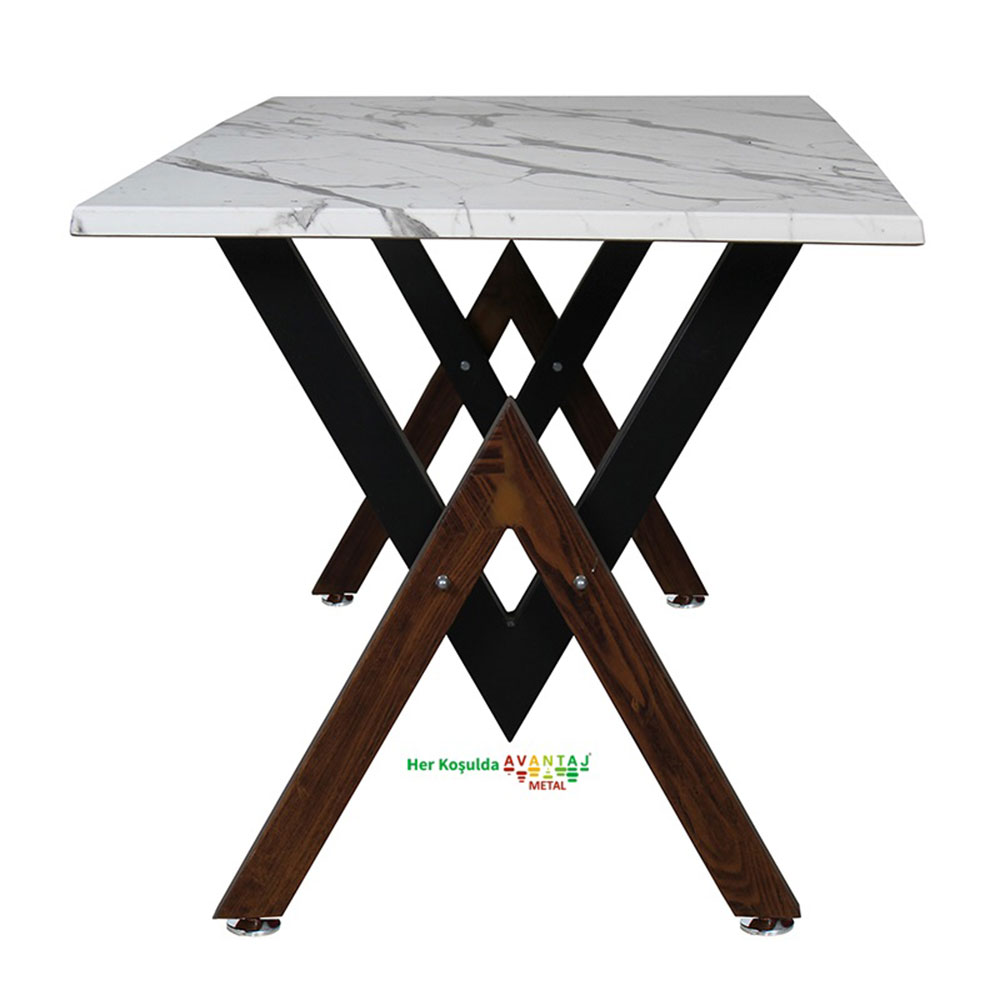 Werzalit Top Dining Table 80 x 140 cm Its classic and modern designs suit every decoration style! Dining and kitchen tables, with different color options, are in Avantaj Metal