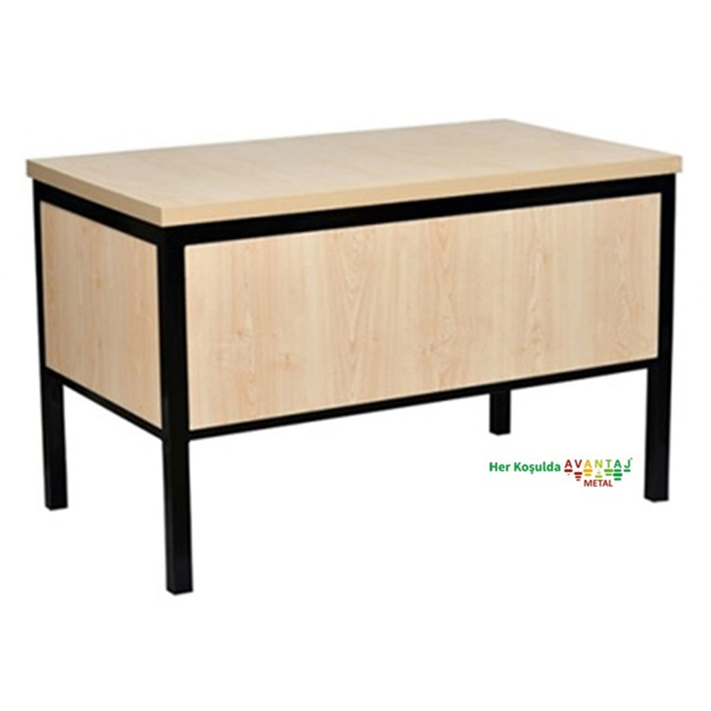 Werzalit Tablalı Öğretmen Kürsüsü 60 x 110 cm Dayanıklı metal aksamı ile birleşen compact tabla uzun ömürlü olacak şekilde üretilmiştir. Hem ayakta hem oturark kullanım için